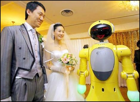 Wedding robots